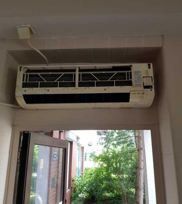 Biuro – Czyszczenie i dezynfekcja klimatyzacji SANYO